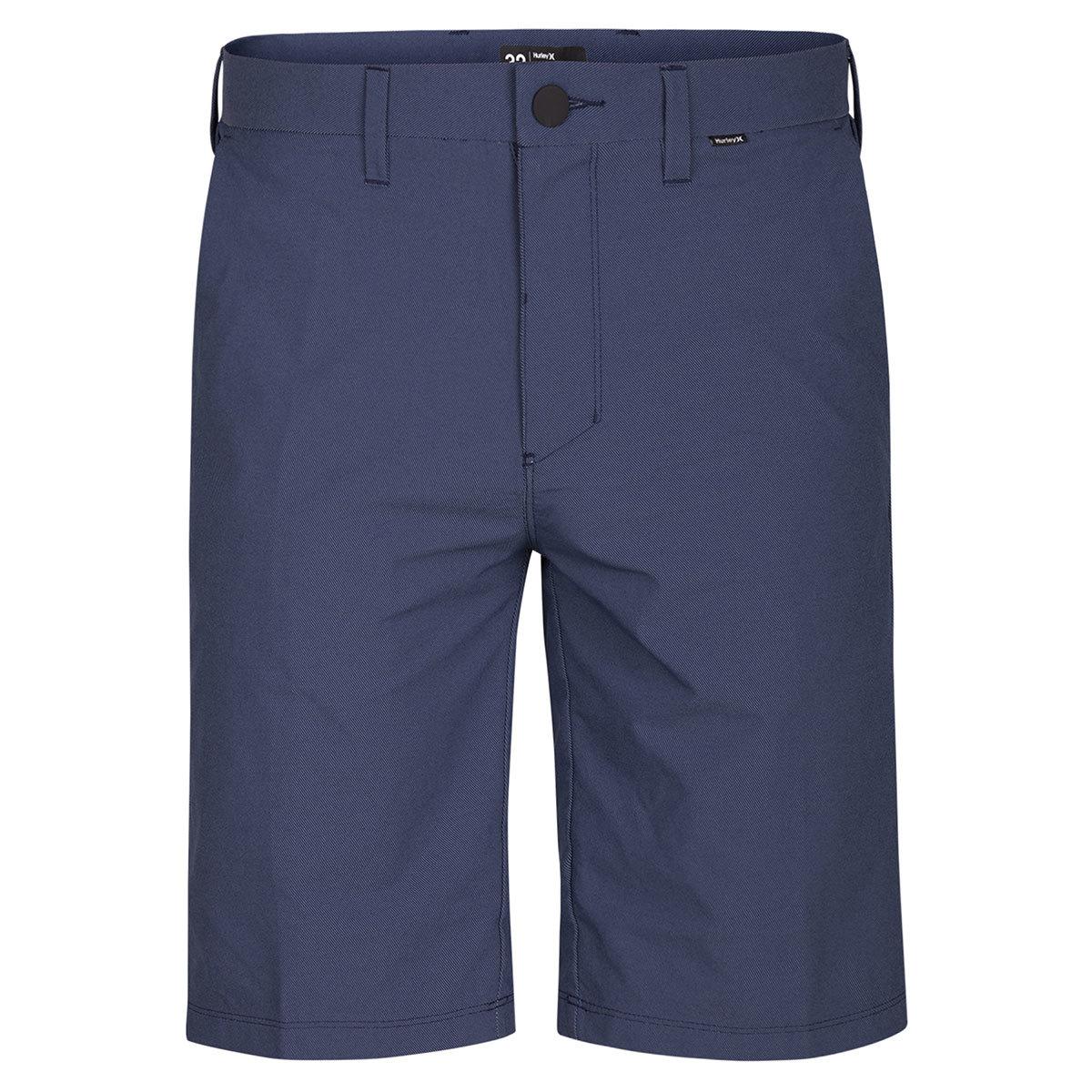 Hurley Guys' Dri-Fit Chino Shorts - Blue, 28