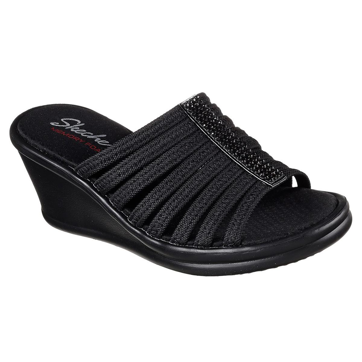 Skechers Women's Rumblers -  Hotshot Sandals - Black, 9