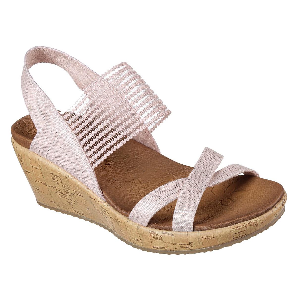 Skechers Women's Beverlee - High Tea Wedge Sandals - Red, 10