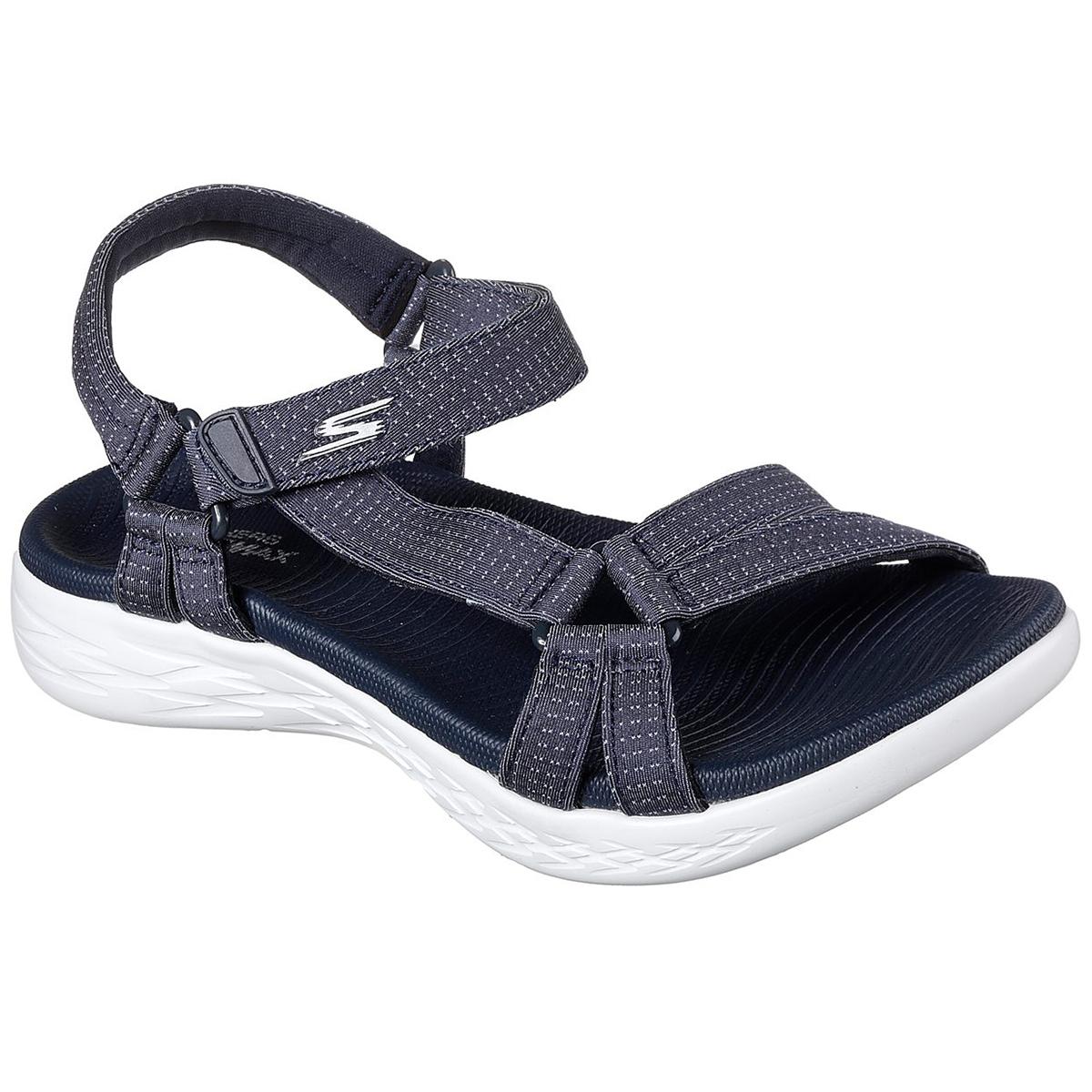 Skechers Women's On The Go 600 -  Brilliancy Sandals - Blue, 8