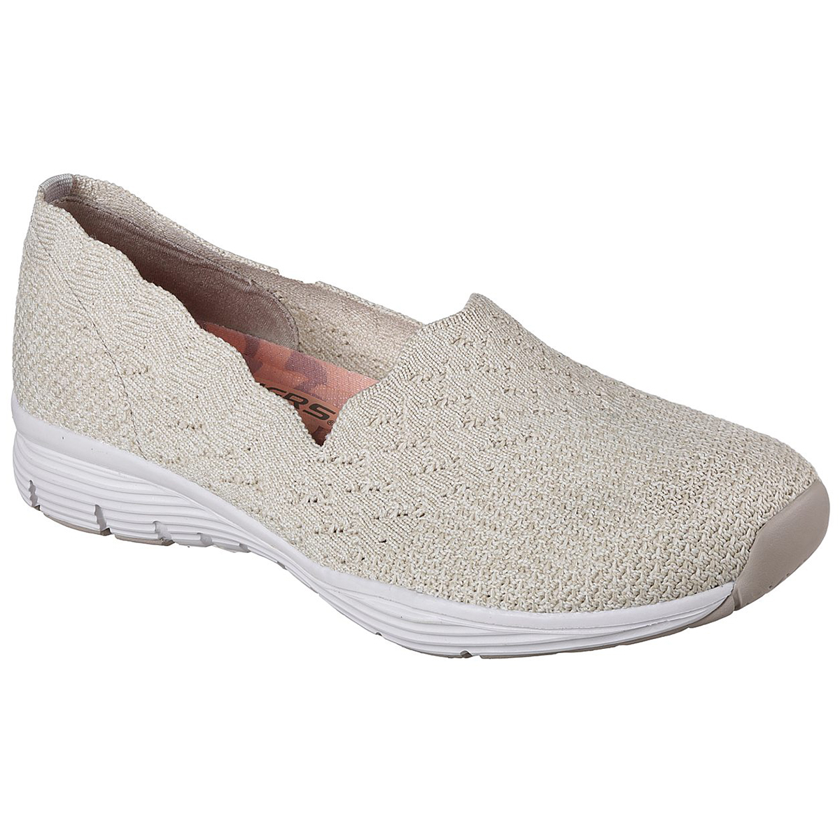 Skechers Women's Seager - Stat Casual Slip-On Shoes - White, 6