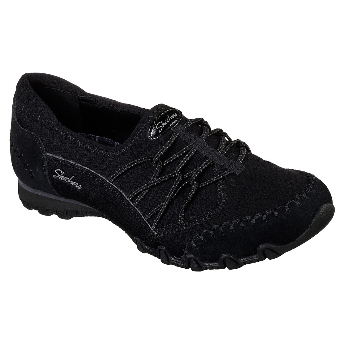 Skechers Women's Relaxed Fit: Bikers Casual Slip-On Shoes - Black, 8
