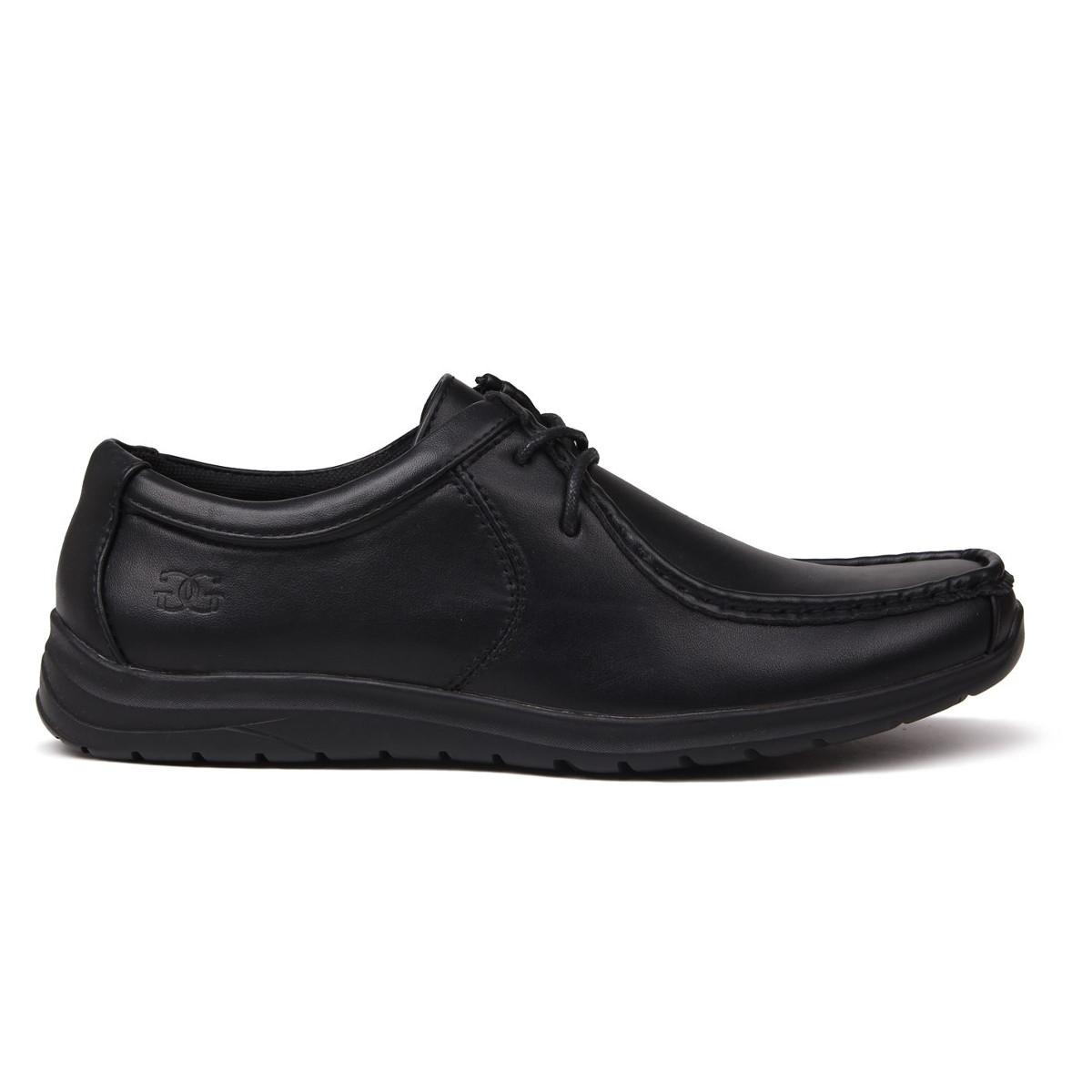 Giorgio Boys' Bexley Lace-Up Casual Shoes - Black, 5