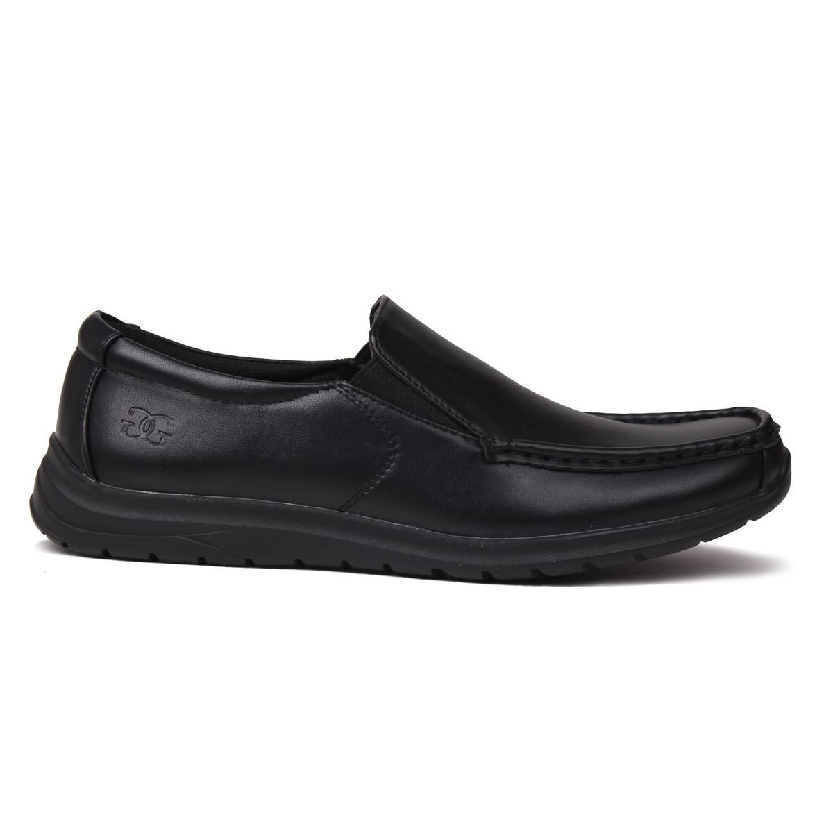 Giorgio Boys' Bexley Slip-On Casual Shoes - Black, 6