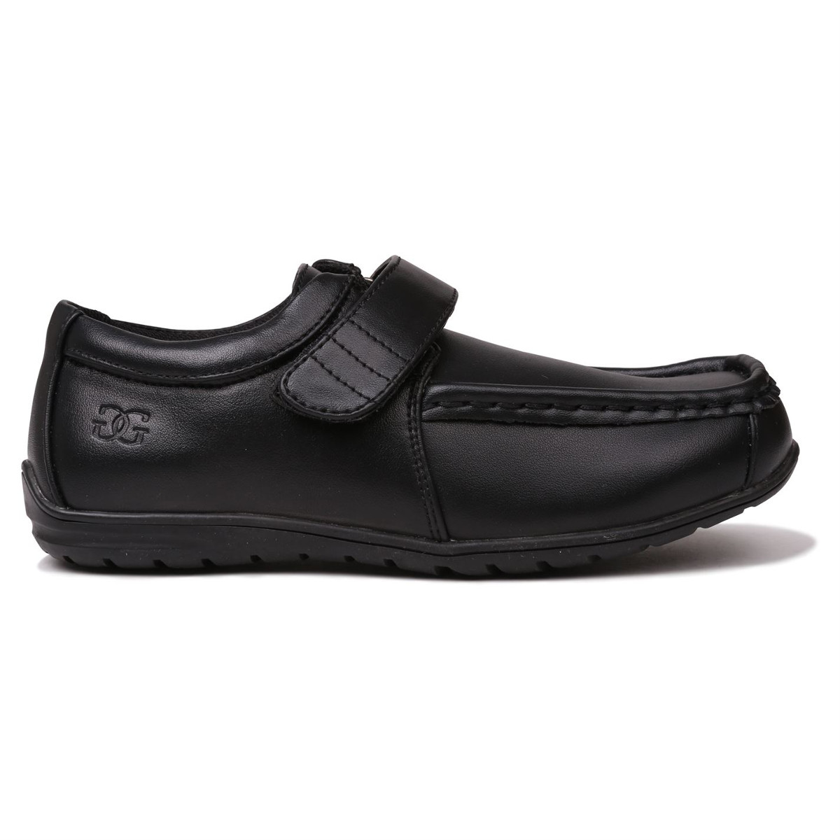 Giorgio Boys' Bexley Velcro Casual Shoes - Black, 6
