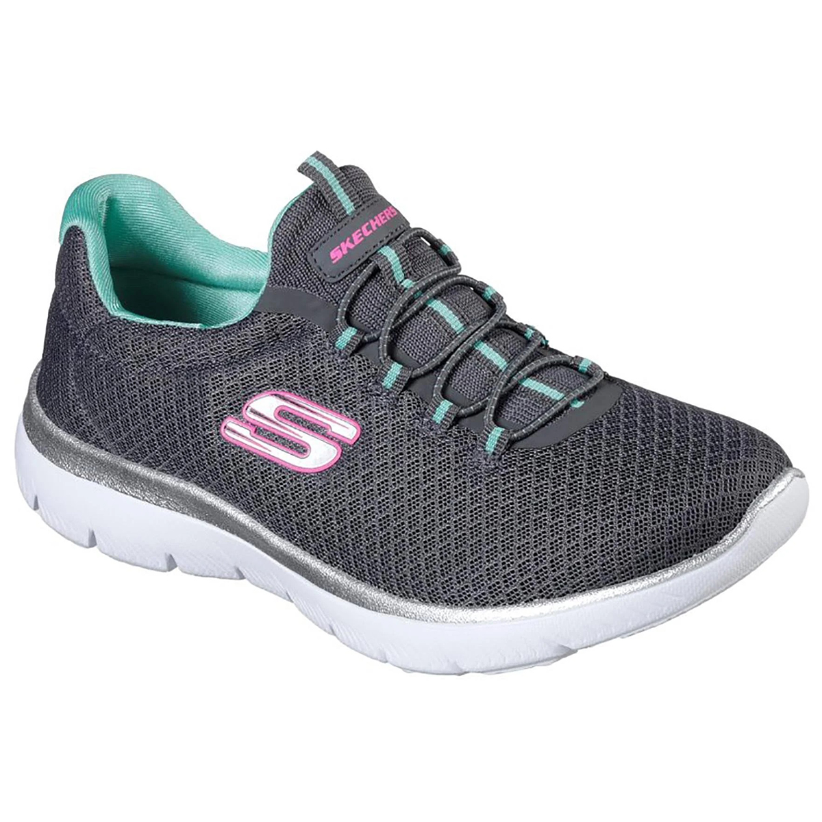 Skechers Women's Summits Sneakers, Wide - Black, 11