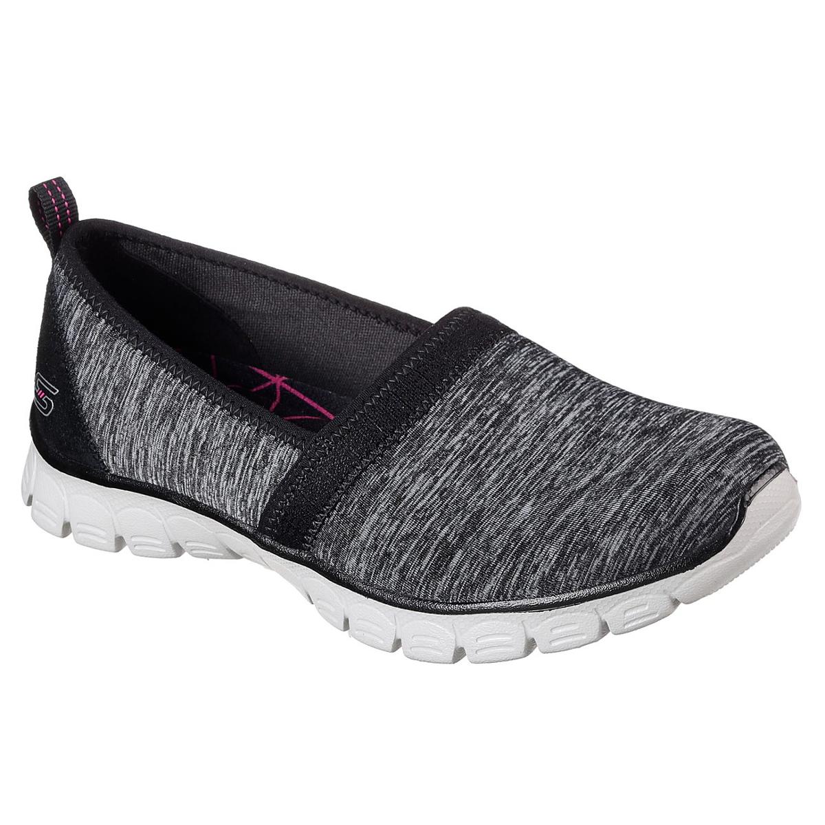 Skechers Women's Ez Flex 3.0 - Swift Motion Casual Slip-On Shoes - Black, 10