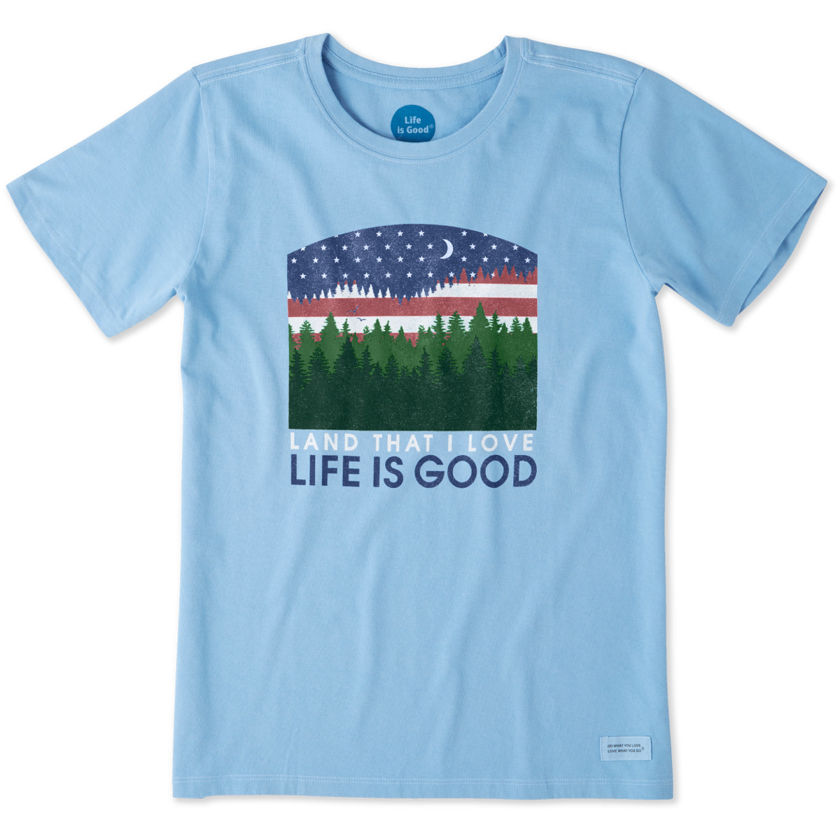 Life Is Good Women's Land That I Love Crusher Tee - Blue, XS