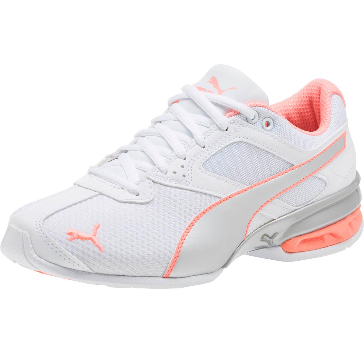 Puma Women's Tazon 6 Metallic Sneakers - White, 7.5