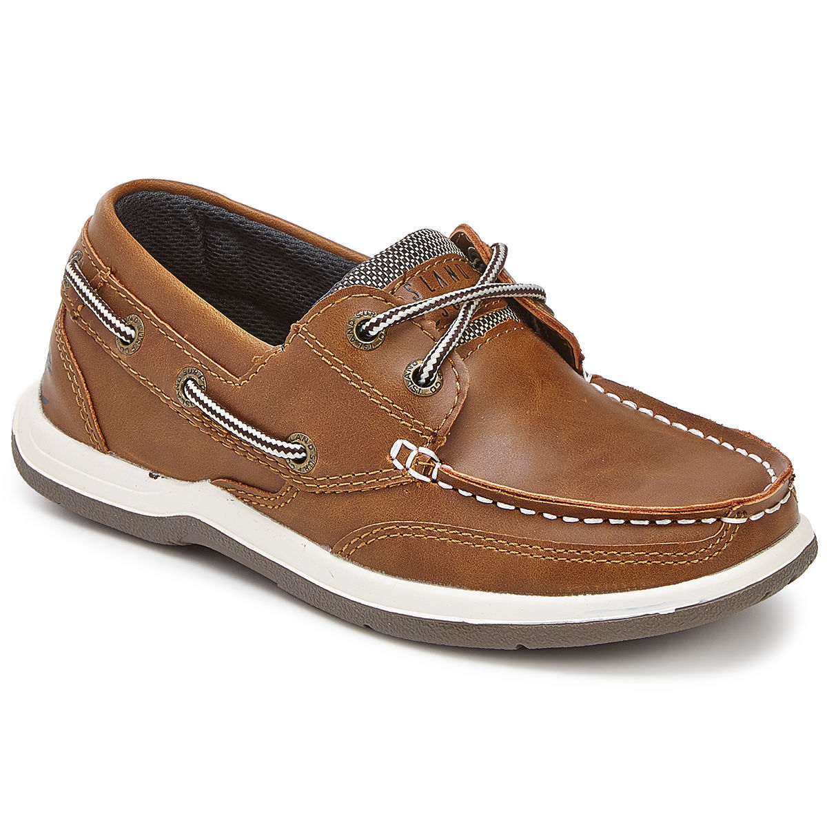 Island Surf Boys' Classic Boat Shoes - Brown, 6