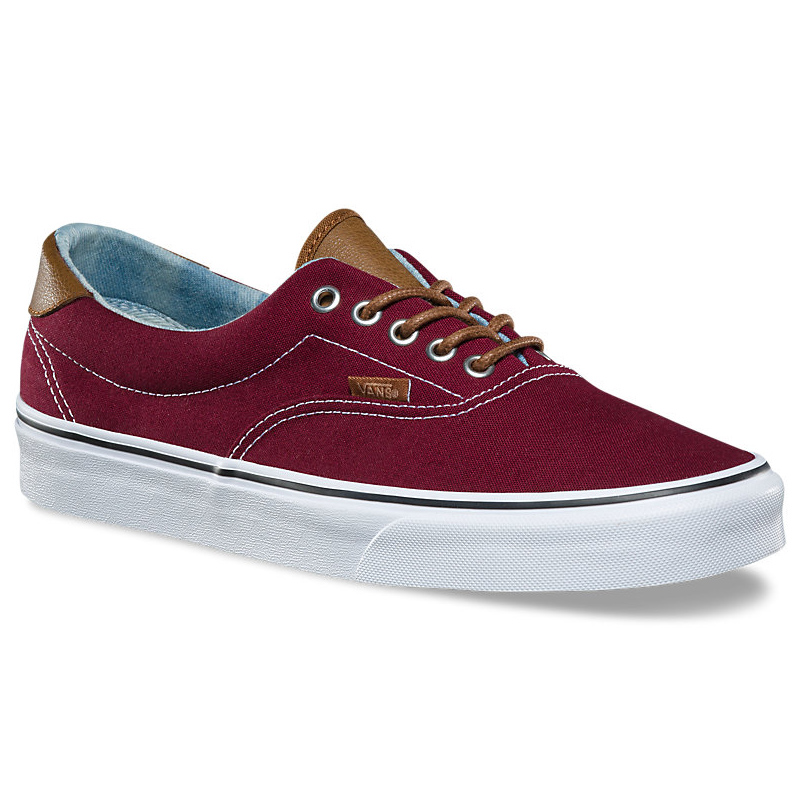 Vans Unisex Era 59 Skate Shoes - Red, 9