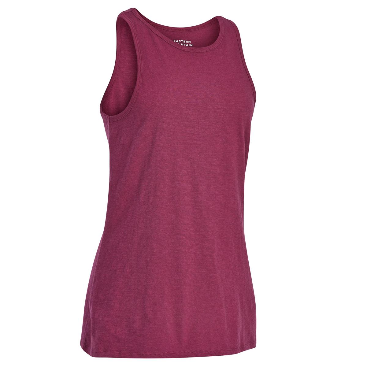 Ems Women's Solid Organic Slub Tank Top - Red, L