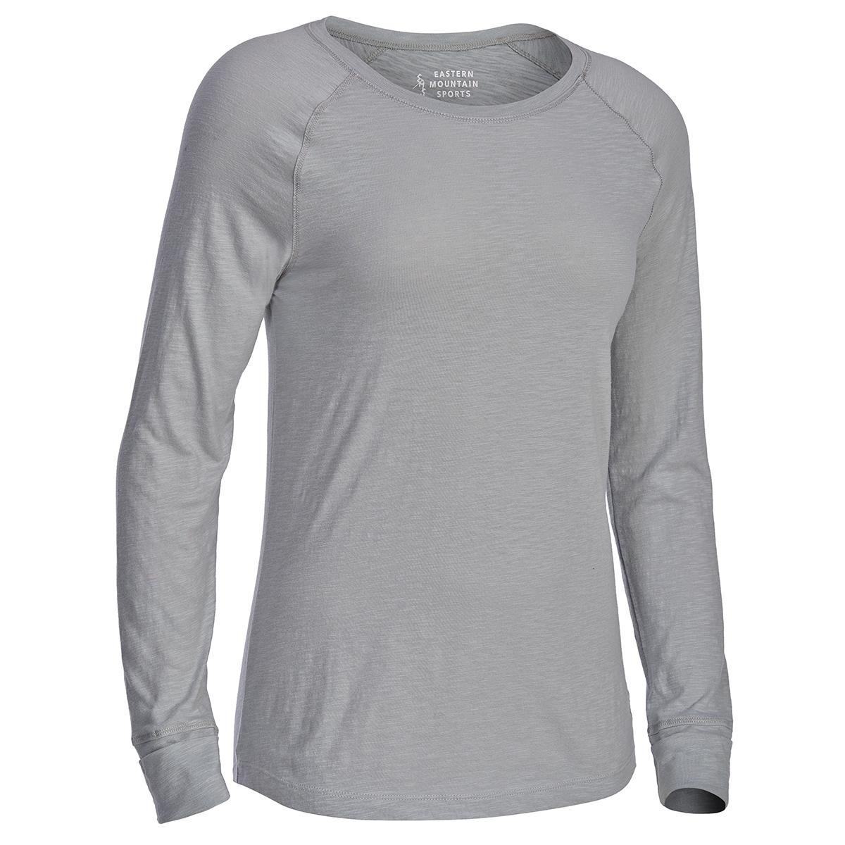 Ems Women's Solid Organic Slub Long-Sleeve Tee - Black, XL