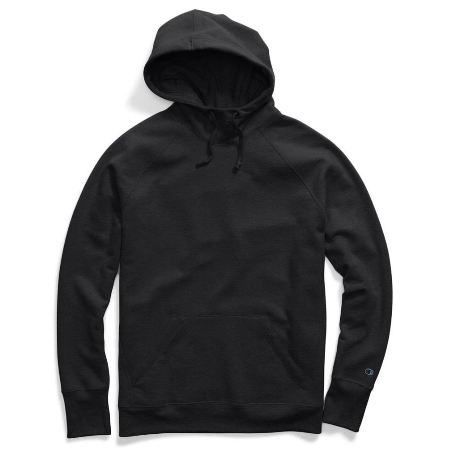 Champion Women's Fleece Pullover Hoodie Sweatshirt - Black, L
