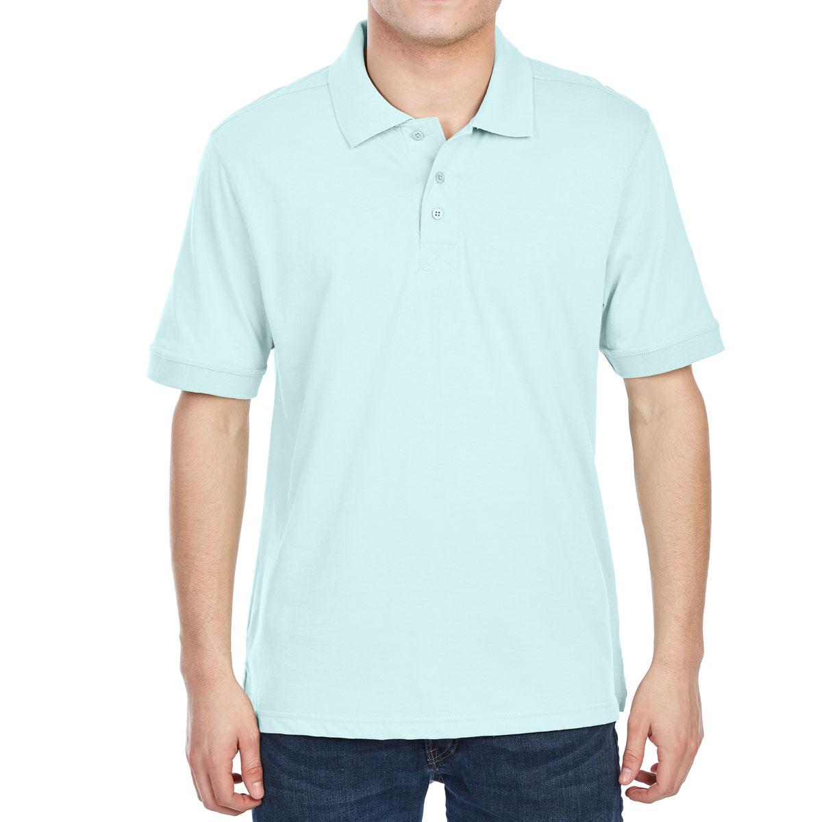 Rugged Trails Men's Jersey Short-Sleeve Polo Shirt - Blue, L
