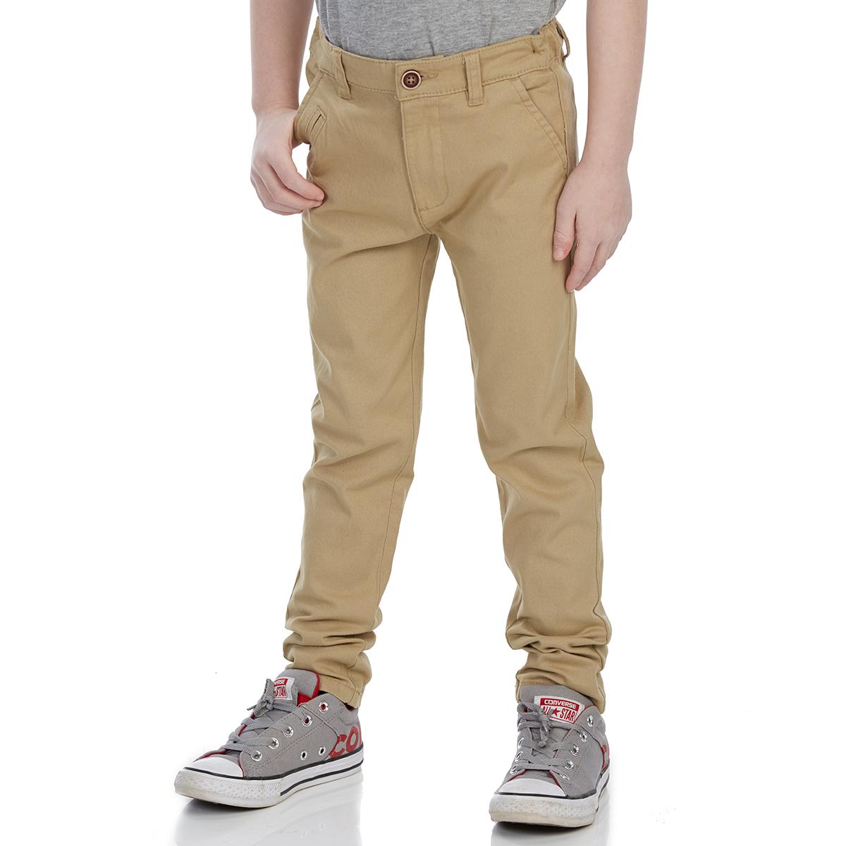Minoti Big Boys' Chino Pants - Brown, 4-5