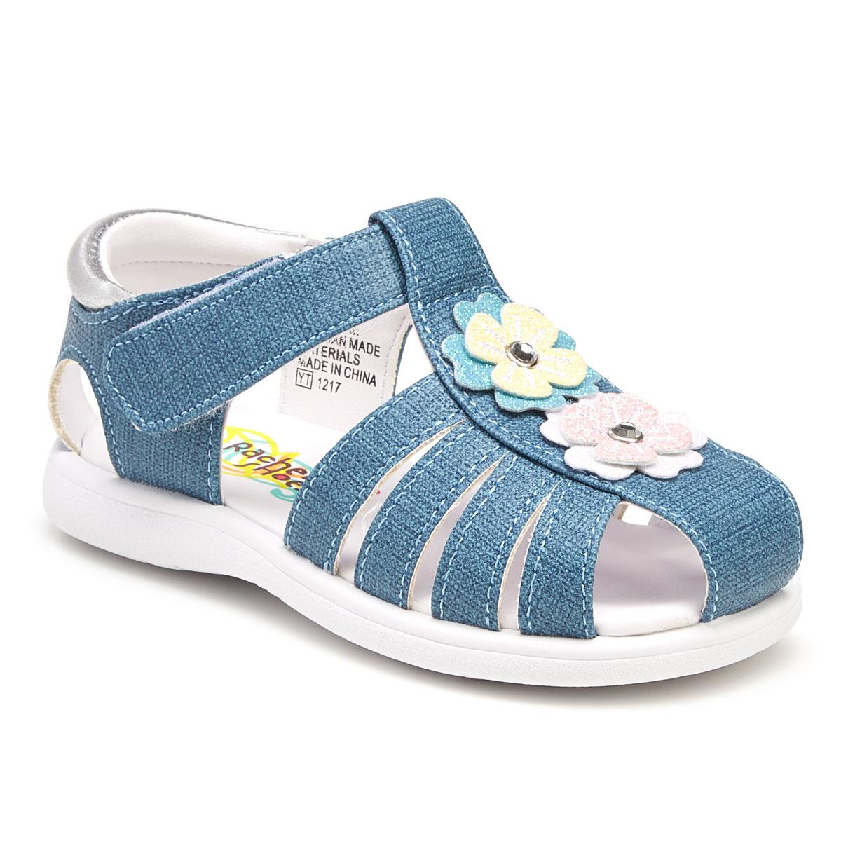 Rachel Shoes Toddler Girls' Mae Fisherman Sandals - Blue, 6