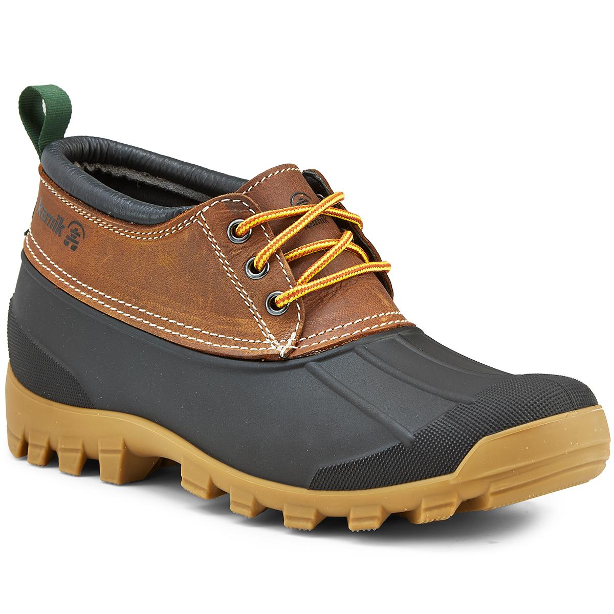 Low Duck Boots, Dark Brown
