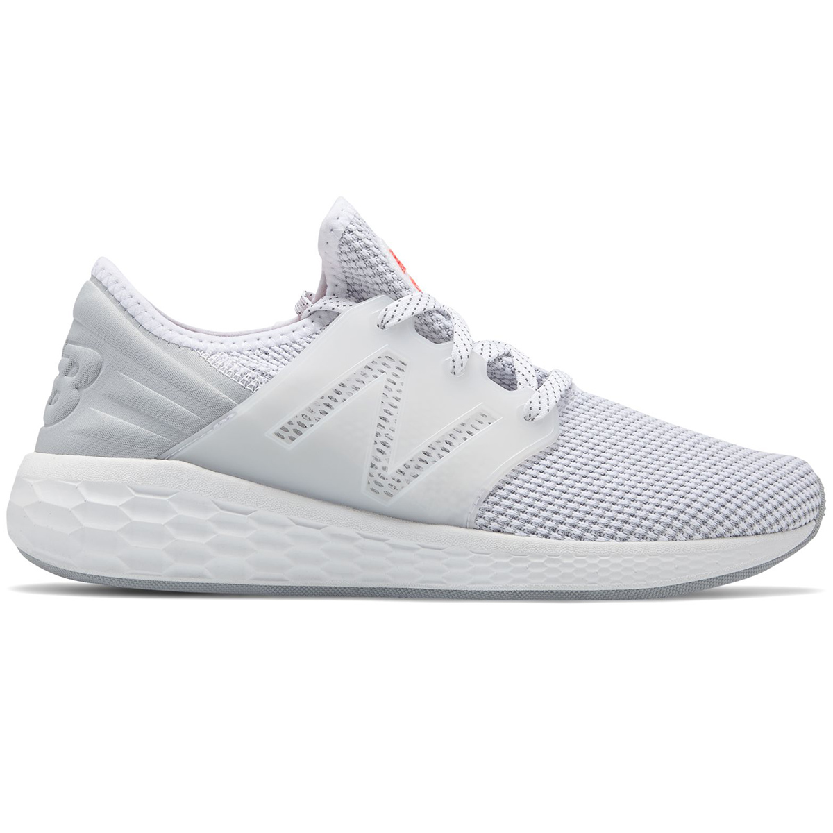 New Balance Women's Fresh Foam Cruz V2 Sport Running Shoes - White, 8