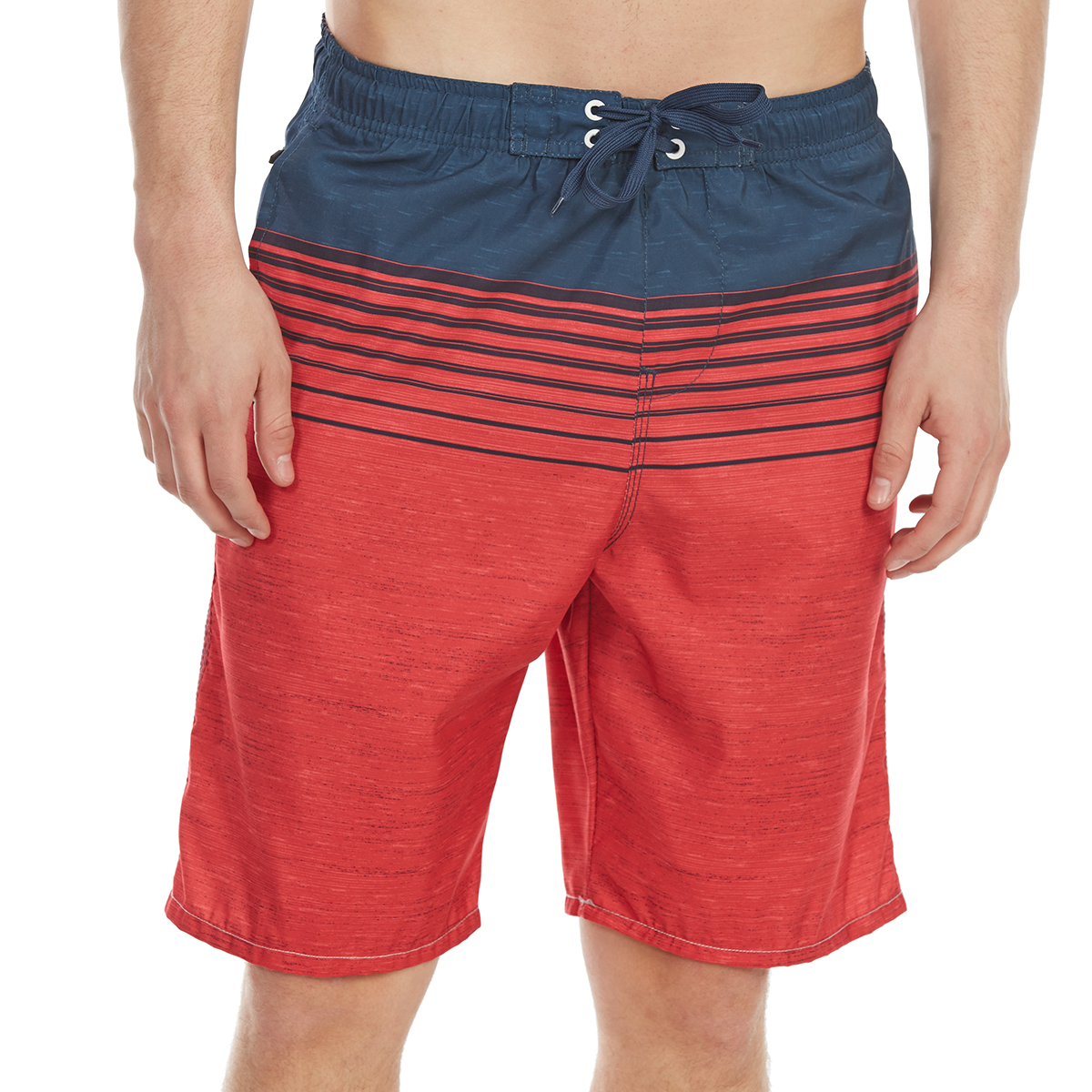 Burnside Guys' Forever Number One E-Board Shorts - Red, M