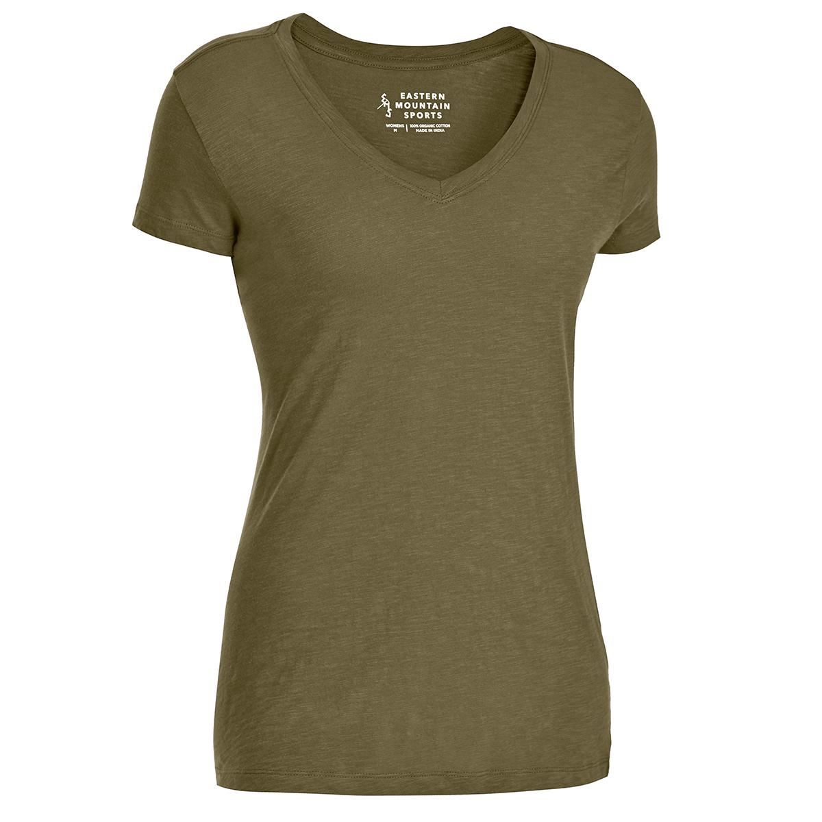 Ems Women's Organic Slub V-Neck Short-Sleeve Tee - Green, XS