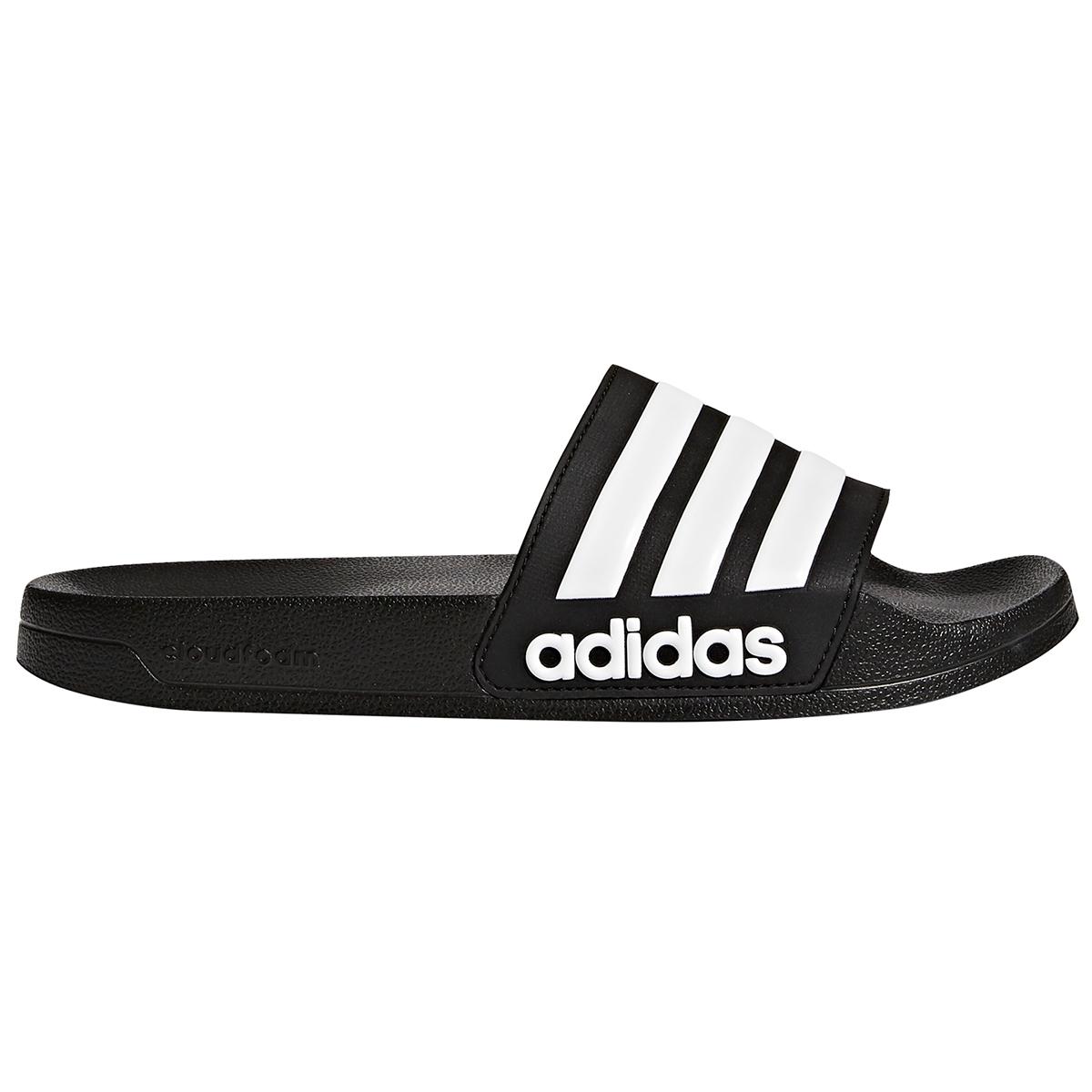 Adidas Men's Adilette Cloudfoam Slides - Black, 11