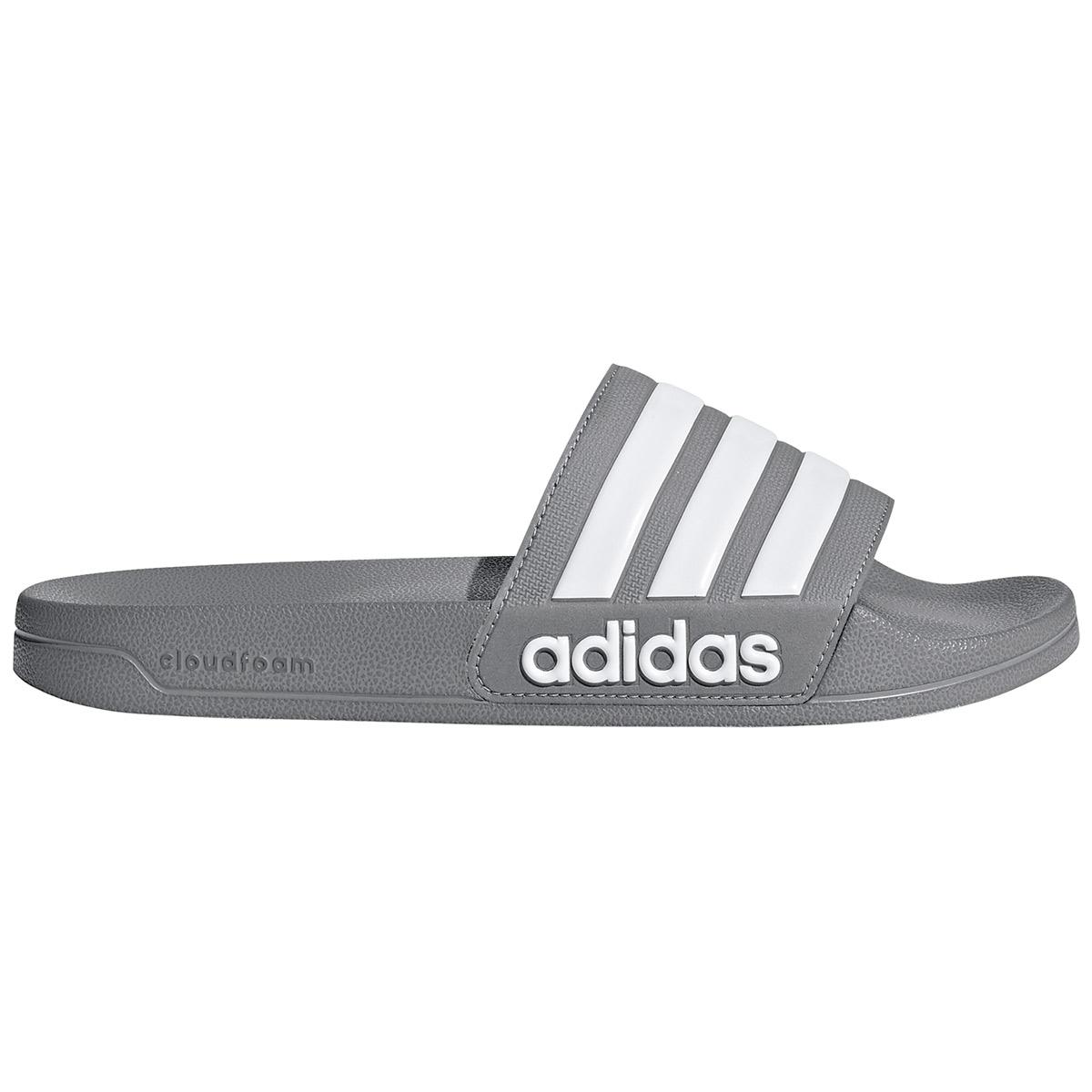 Adidas Men's Adilette Cloudfoam Slides - Black, 13