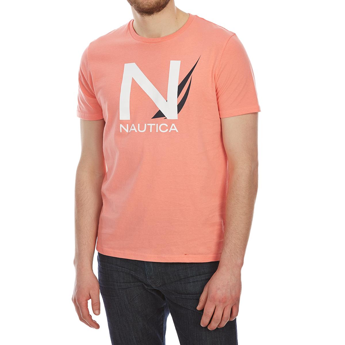 Nautica Men's Heritage Graphic Short-Sleeve Tee - Orange, XL