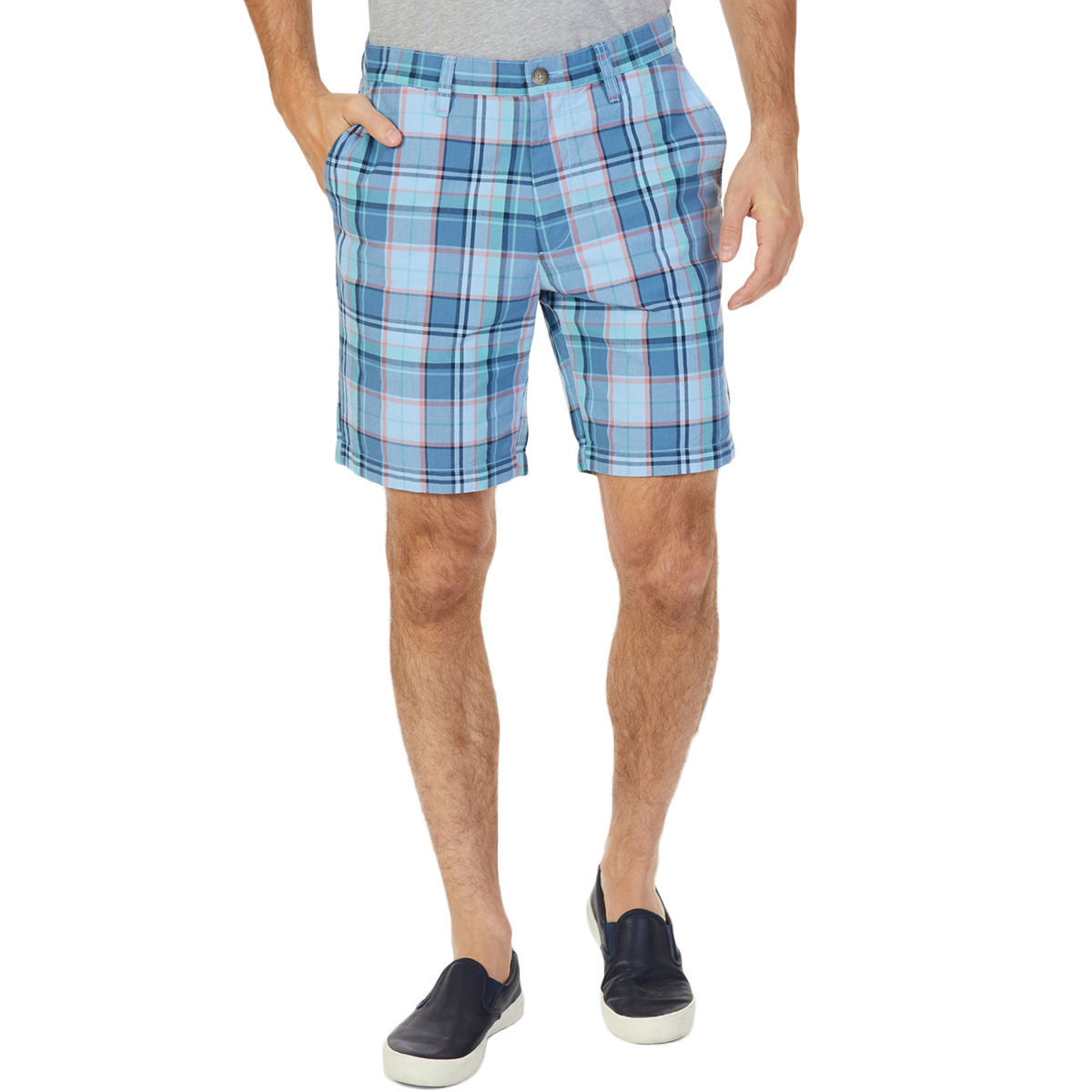 Nautica Men's Roadmap Plaid Classic Fit Walking Shorts - Blue, 42