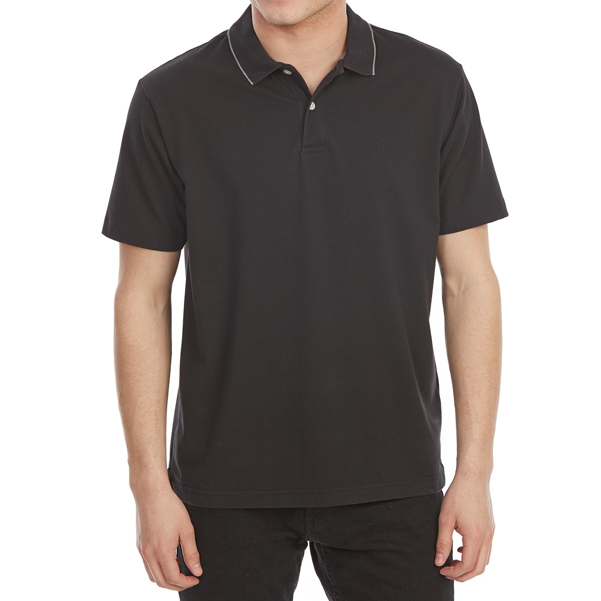 Dockers Men's Performance Short-Sleeve Polo Shirt - Black, L