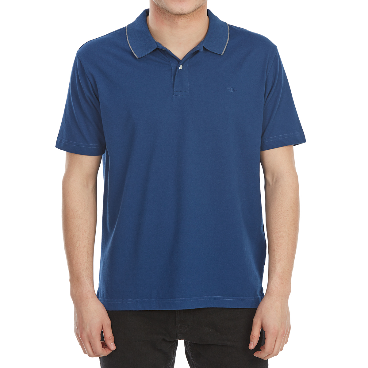 Dockers Men's Performance Short-Sleeve Polo Shirt - Blue, M