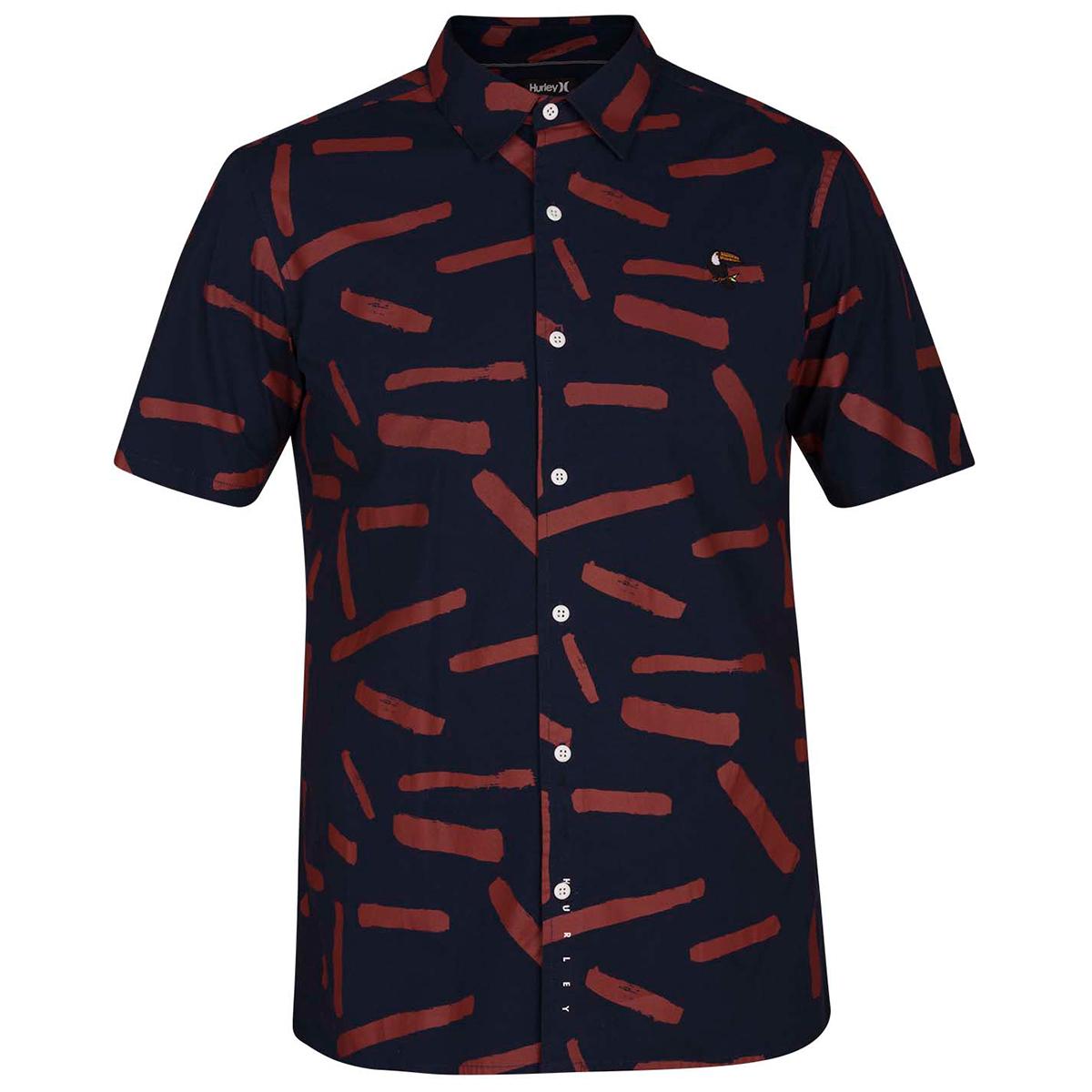 Hurley Men's Bowie Short-Sleeve Shirt - Blue, M