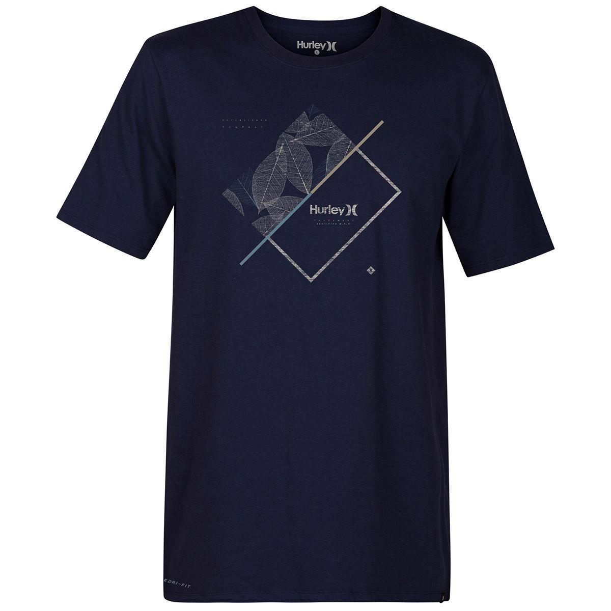 Hurley Guys' Breaking Lines Dri-Fit Short-Sleeve Tee - Blue, M