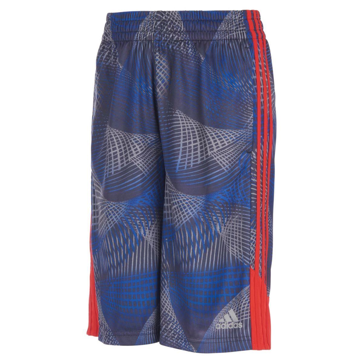 Adidas Little Boys' Amplified Net Basketball Shorts - Blue, 6