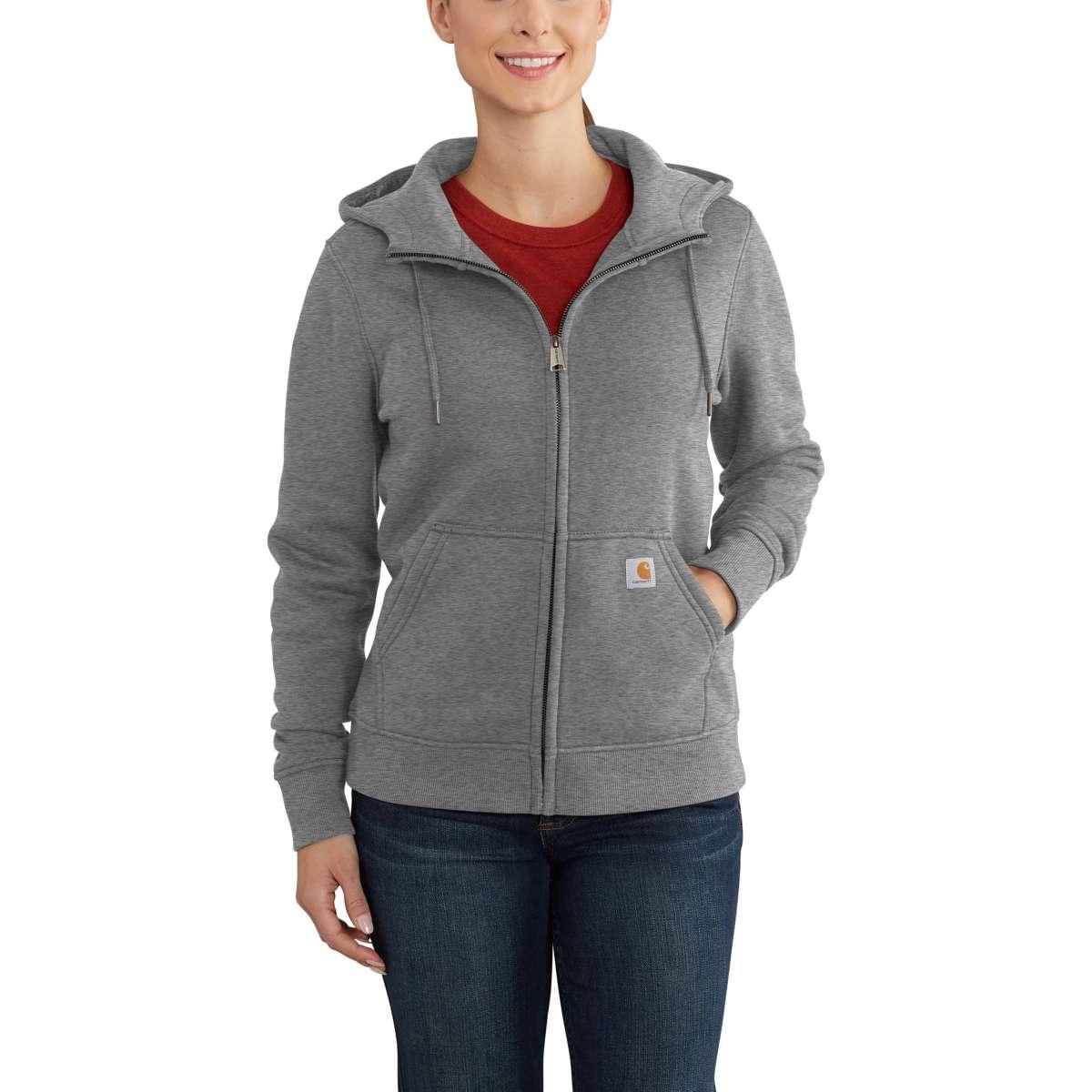 Carhartt Women's Clarksburg Full-Zip Hoodie - Black, XL
