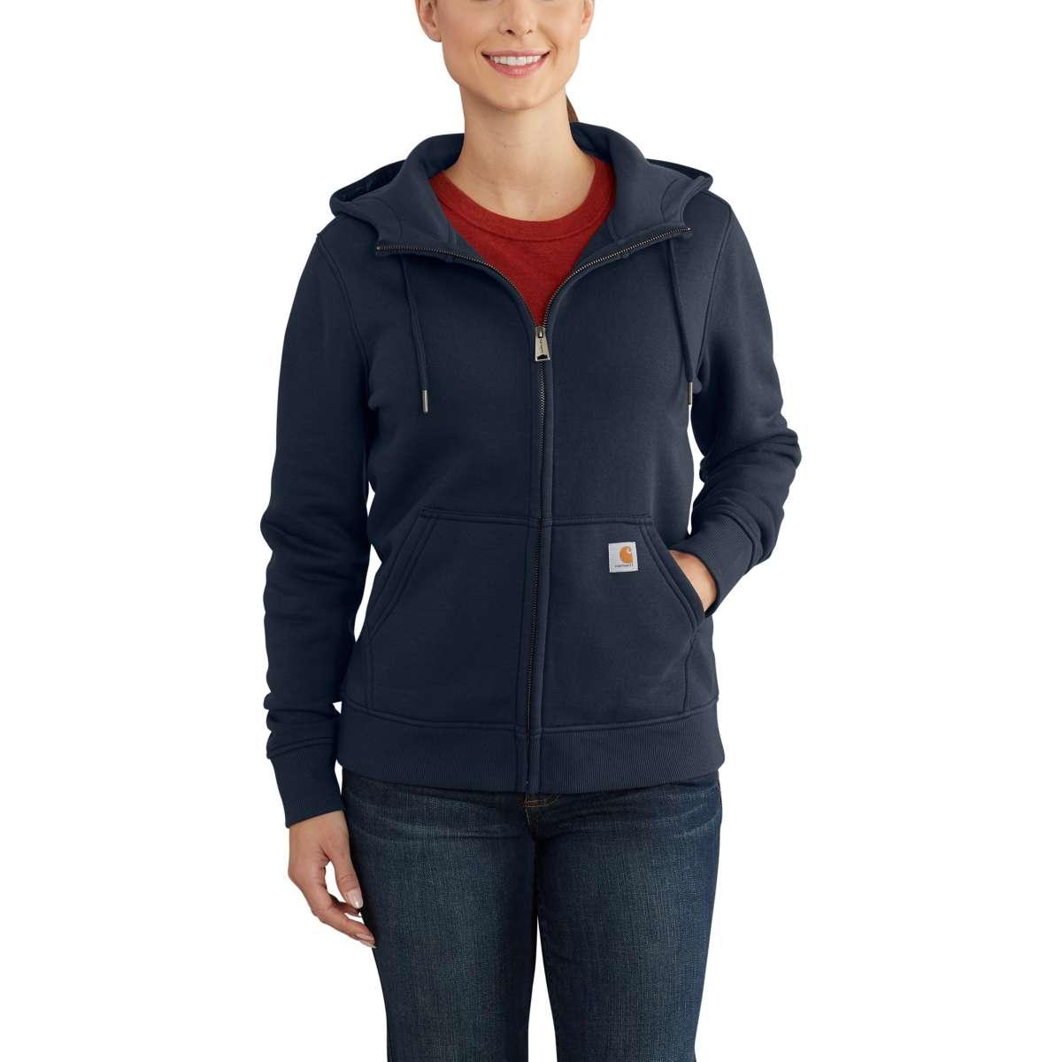 Carhartt Women's Clarksburg Full-Zip Hoodie - Blue, XL