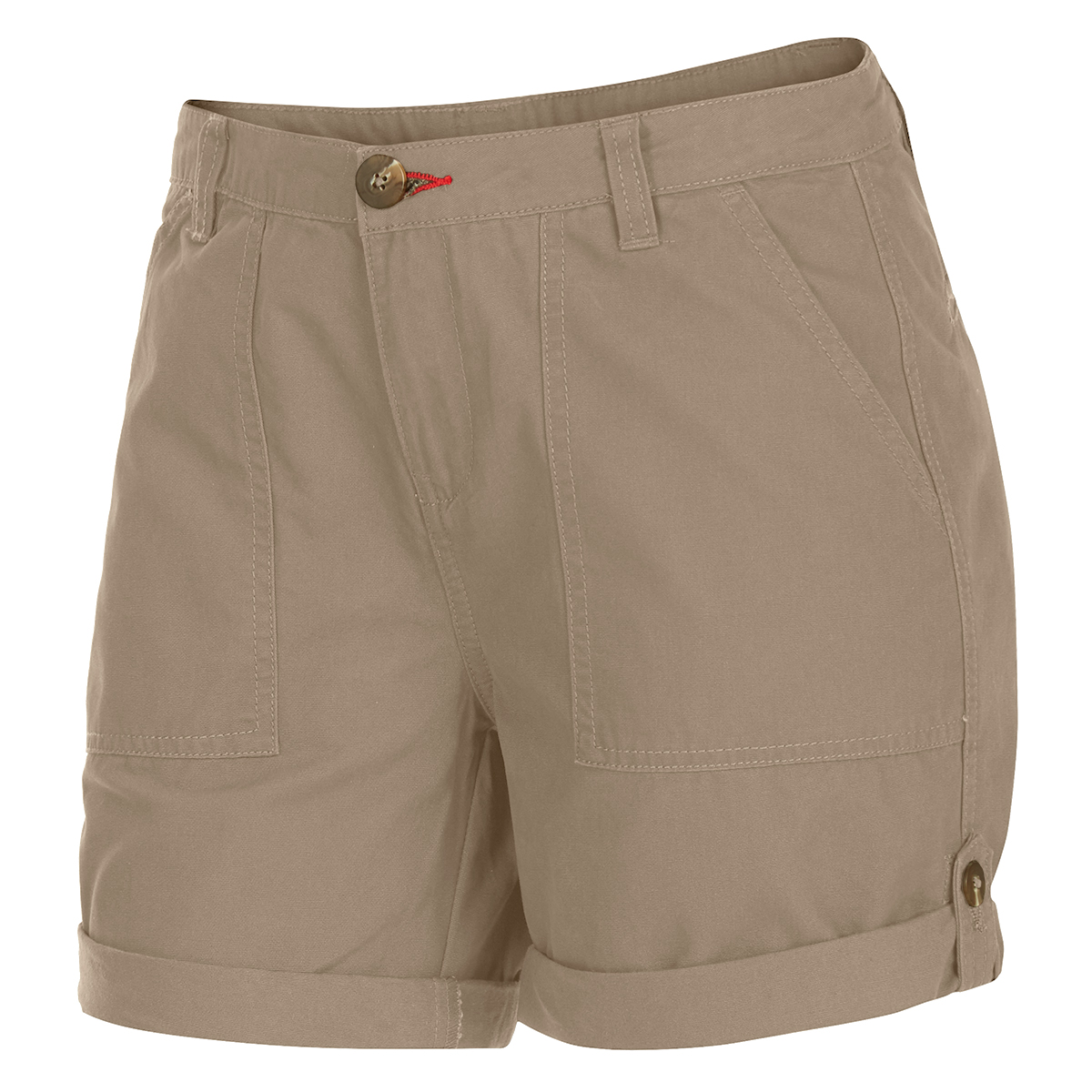 Ems Women's Roll-Up Shorts - Brown, 0