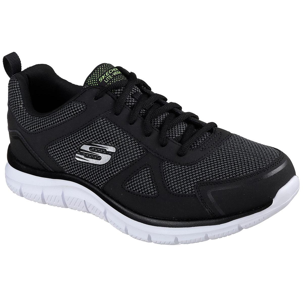 Skechers Men's Track Bucolo Shoe, Wide - Black, 9.5