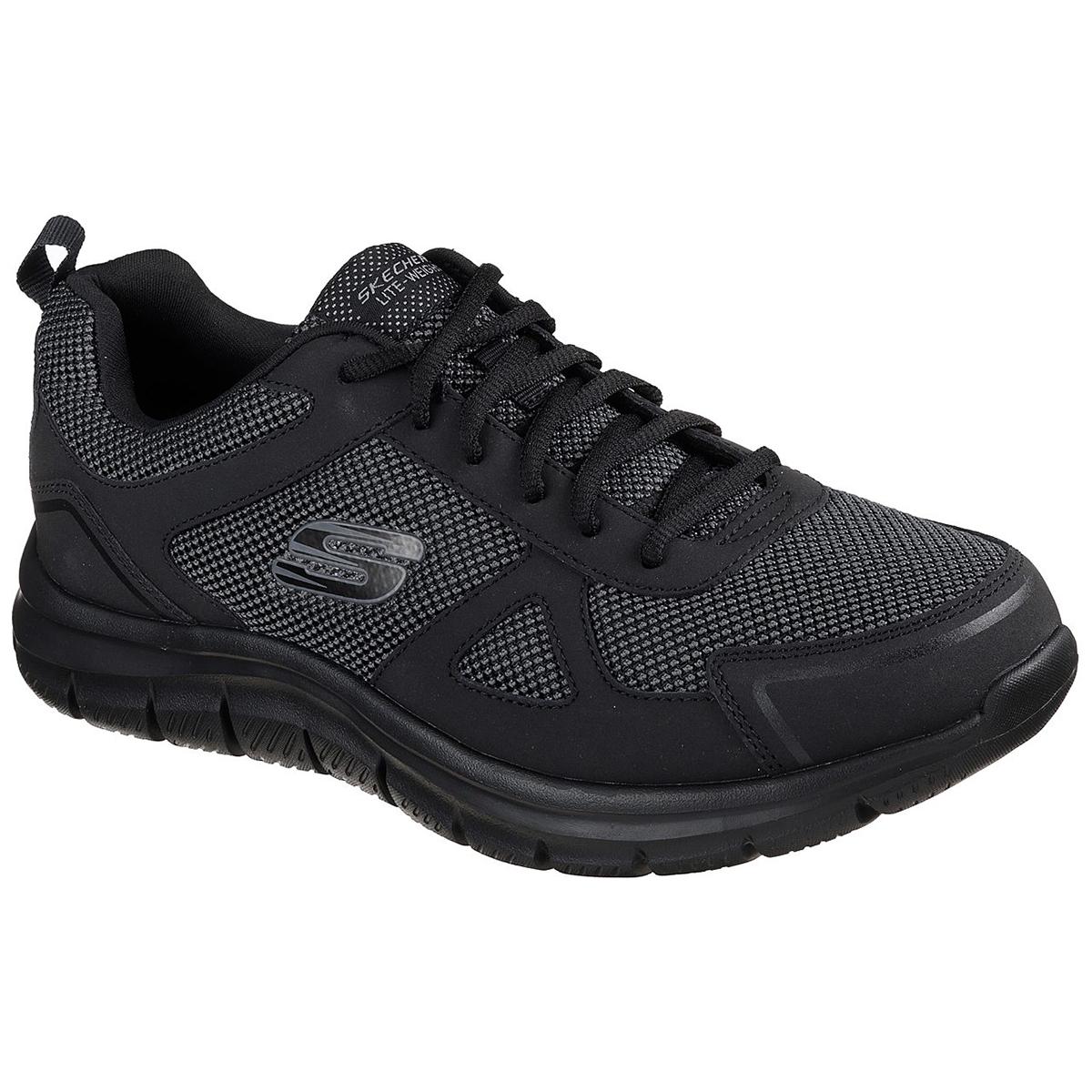 Skechers Men's Track Bucolo Shoe, Wide - Black, 11