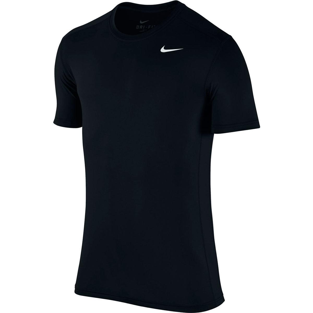 Nike Men's Dri-Fit Crew Short-Sleeve Base Layer Top - Black, XL