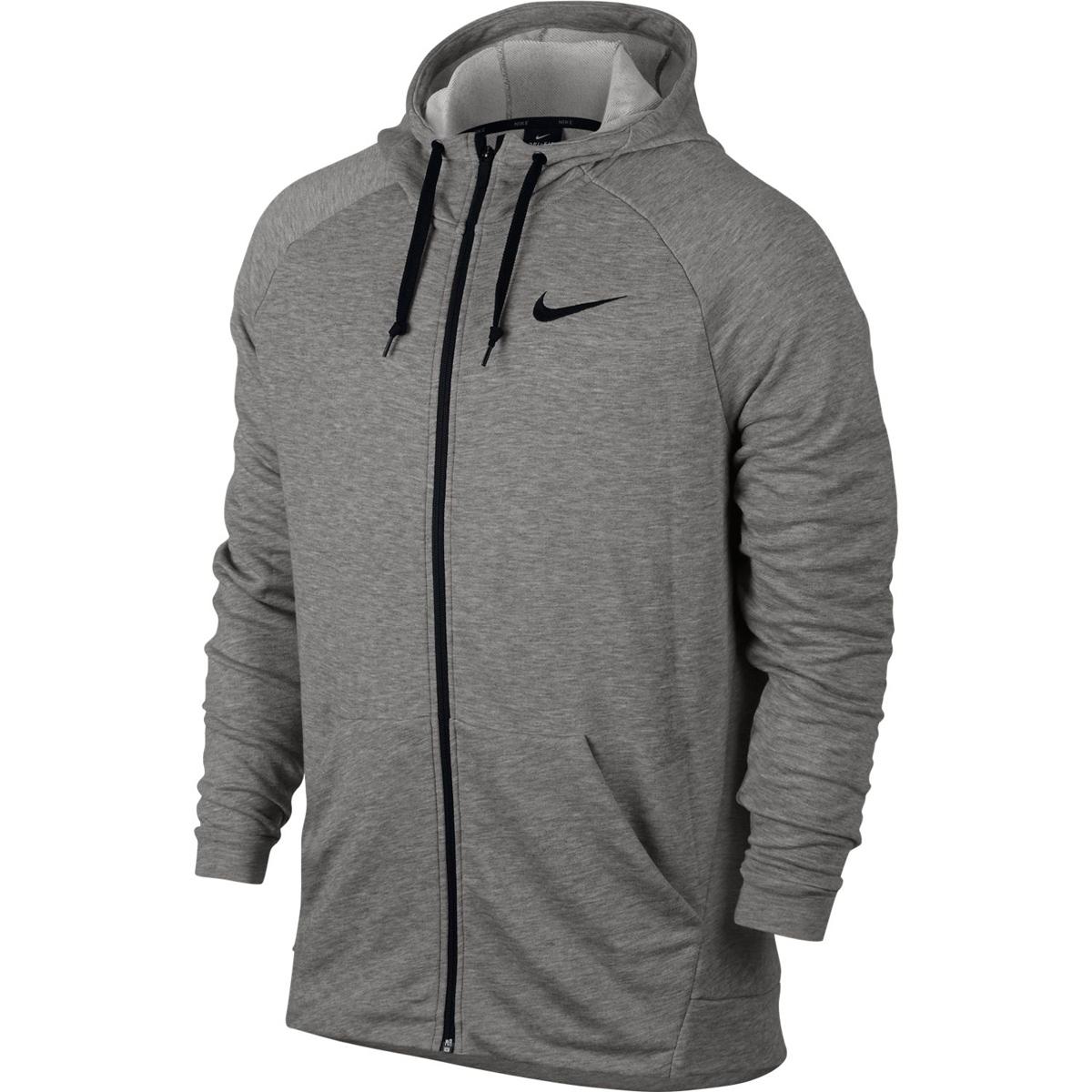 Nike Men's Dri-Fit Full-Zip Fleece Training Hoodie - Black, XL