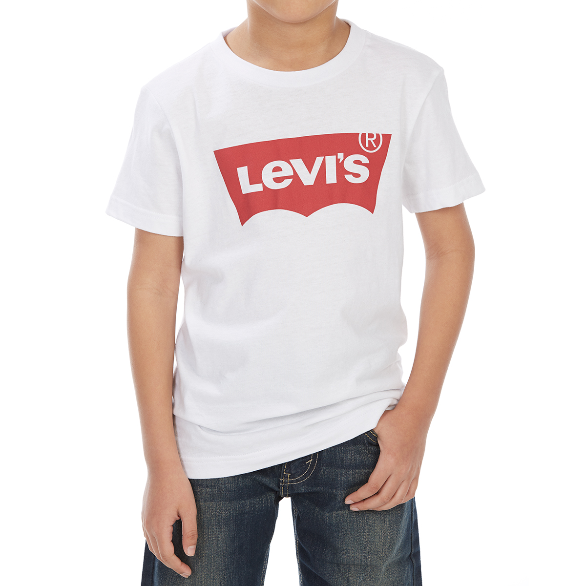 Levi's Big Boys' Batwing Short-Sleeve Tee - White, M
