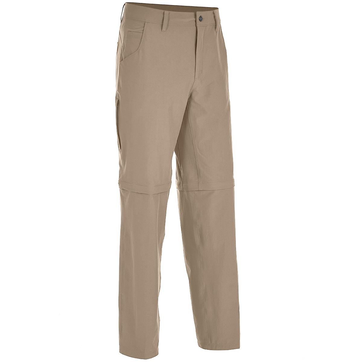 Ems Men's Go East Zip-Off Pants - Brown, 40/32