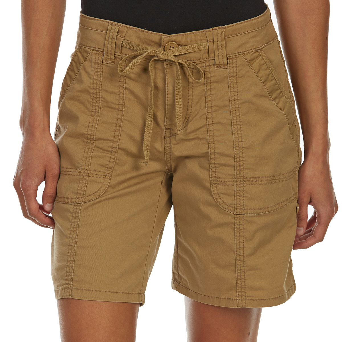 Supplies By Unionbay Women's Marty Convertible Shorts - Brown, 12