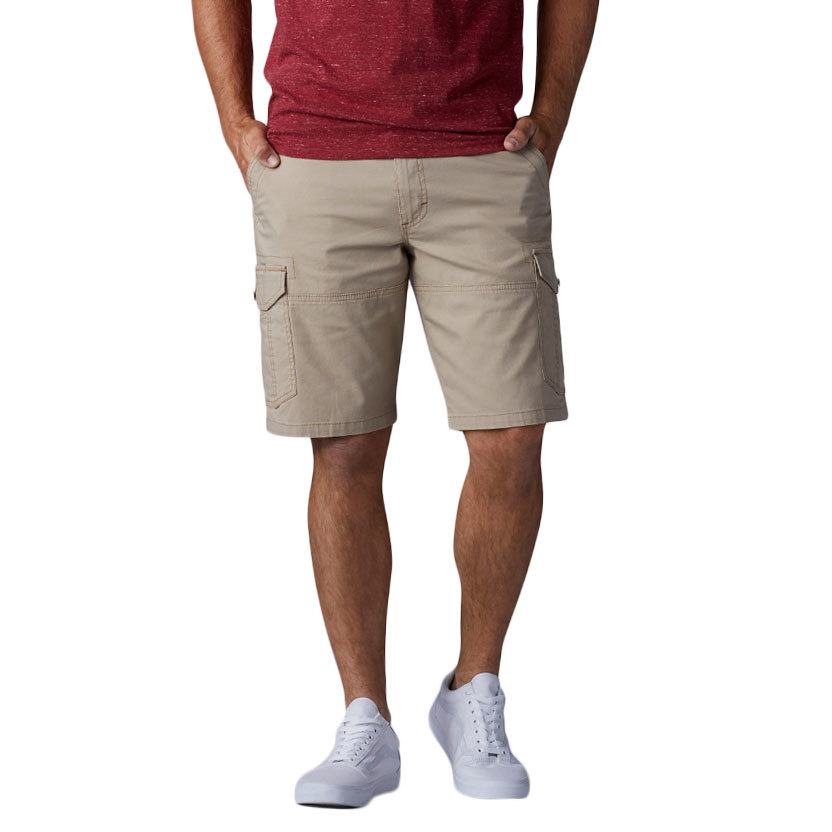 LEE Guys' Extreme Motion Swope Shorts - Brown, 34