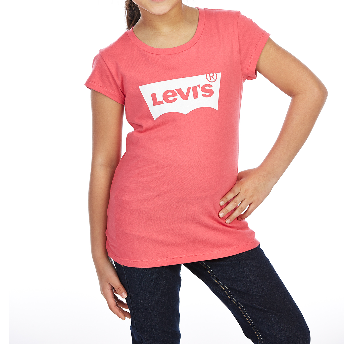 Levi's Big Girls' Batwing Short-Sleeve Tee - Red, S