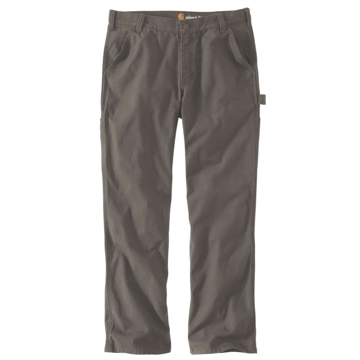 Carhartt Men's Rugged Flex Relaxed Fit Duck Dungaree Work Pants - Brown, 32/30