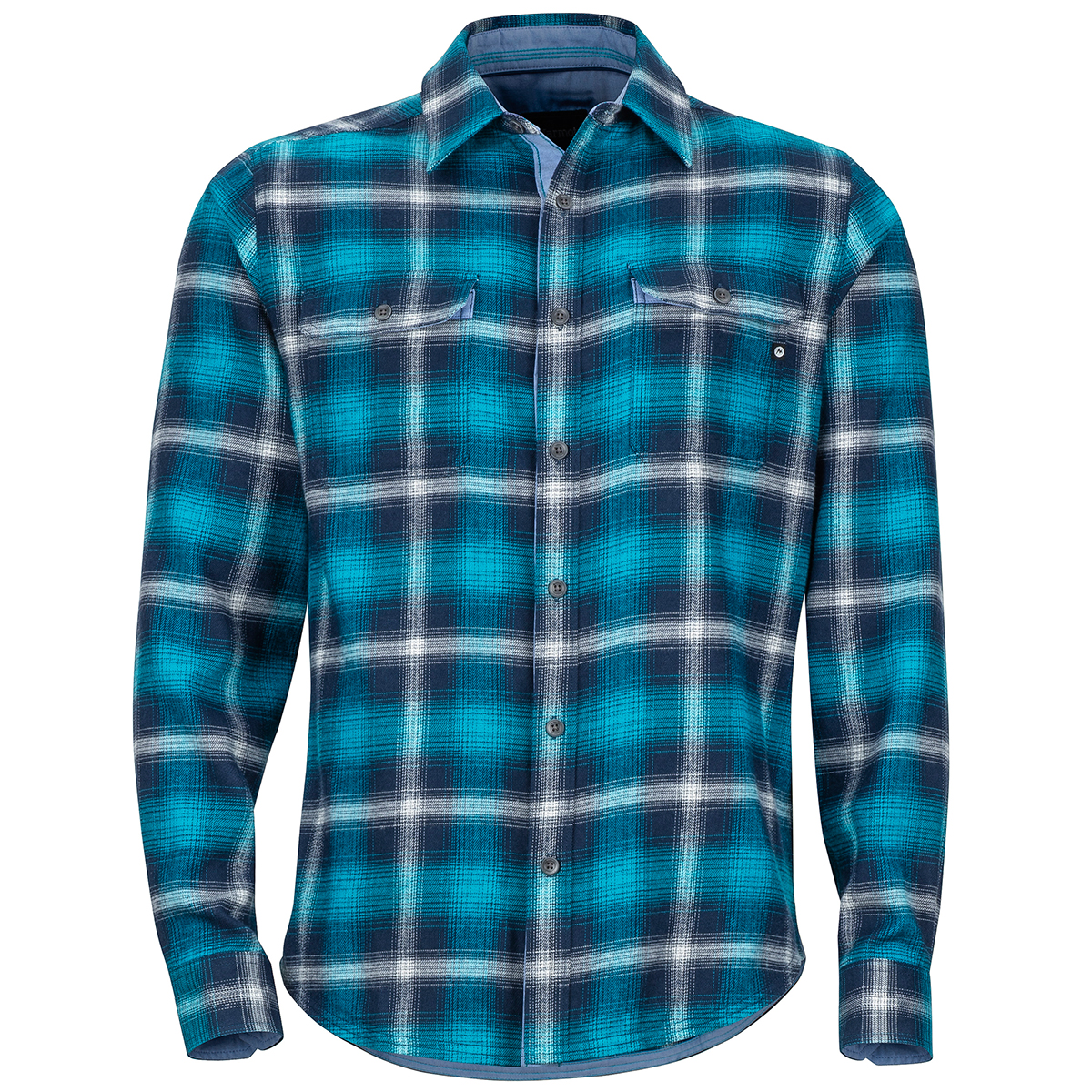 Marmot Men's Jasper Midweight Long-Sleeve Flannel Shirt - Blue, M