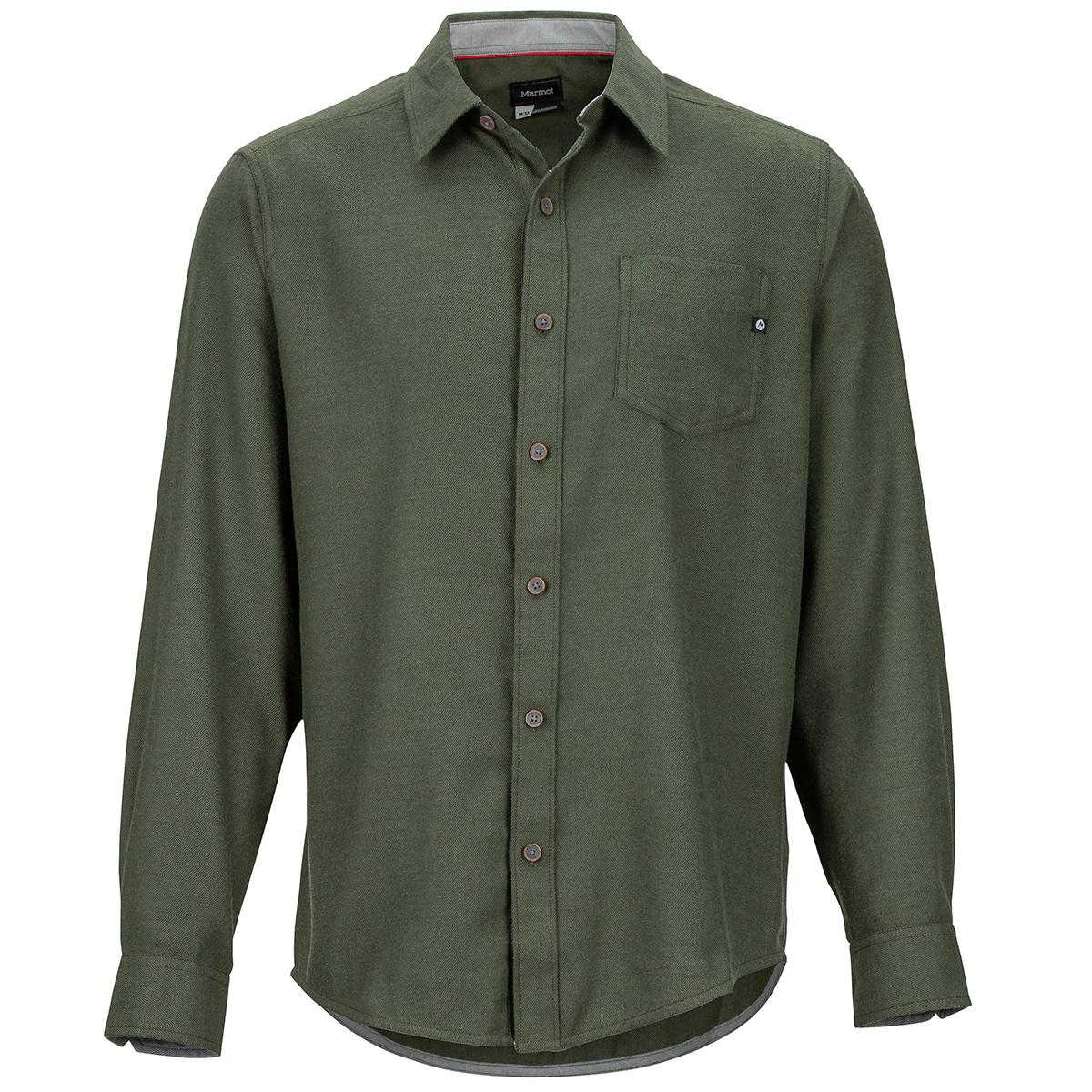 Marmot Men's Hobson Midweight Flannel Long-Sleeve Shirt - Green, M