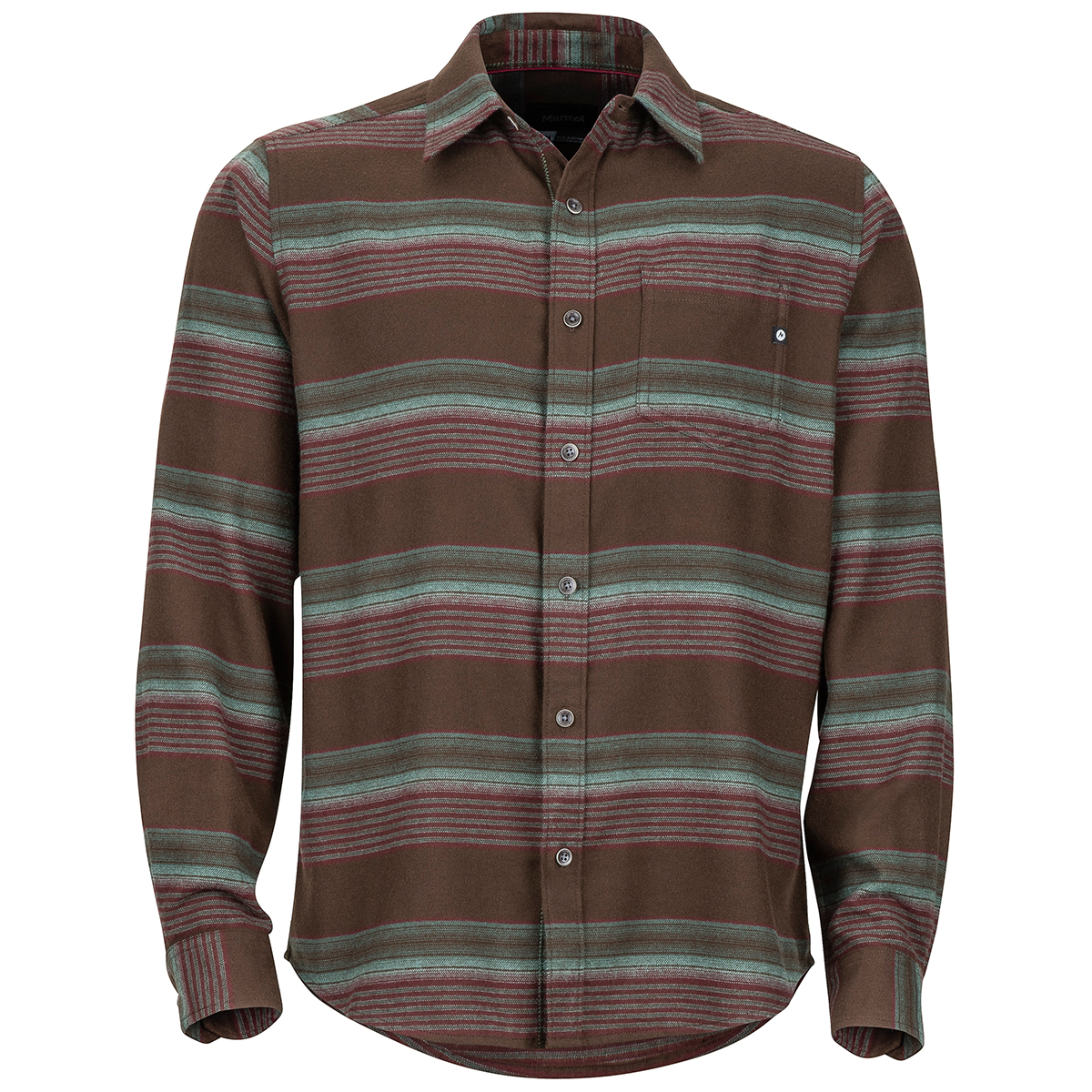 Marmot Men's Enfield Midweight Flannel Long-Sleeve Shirt - Brown, M